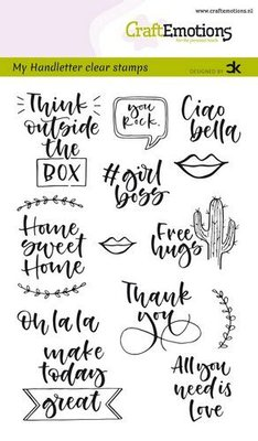 CraftEmotions clearstamps A6 - handletter -  Quotes 2 (Eng) Carla Kamphuis