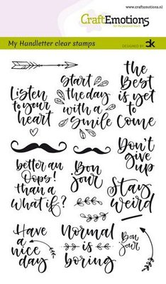 CraftEmotions clearstamps A6 - handletter -  Quotes 1 (Eng) Carla Kamphuis