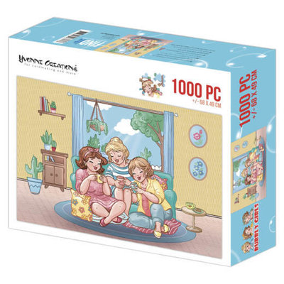 Puzzle 1000 pc - Yvonne Creations - Bubbly Girls Tea Time 002