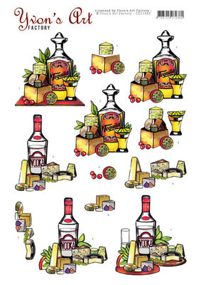 CD11443 3D Knipvel - Yvon's Art - Tequila and Vodka
