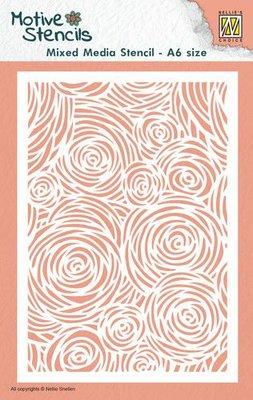 Nellie's Choice Mixed Media Stencils Bloemen MMSA6-012 A6 (01-20)
