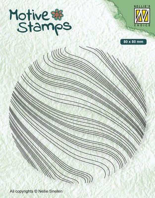Nellie's Choice Clearstamp - Texture golven TXCS014 80x80mm (01-20)