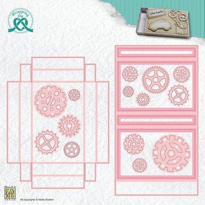 Nellie's Choice Wrapping Die gift box - 10 Cadeau kaart doos WPD010 92x60x11mm (01-20)