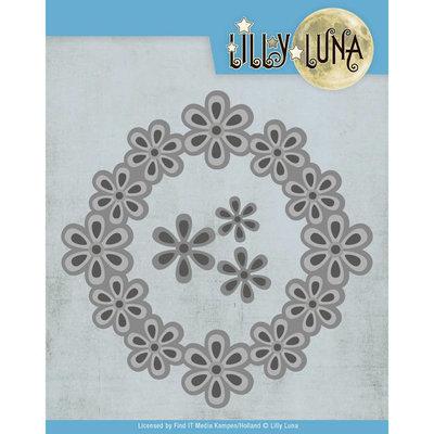 LL10006 Snijmal - Lilly Luna - Pop Up Bloemenframe ca. 12,5 x 12,5 cm