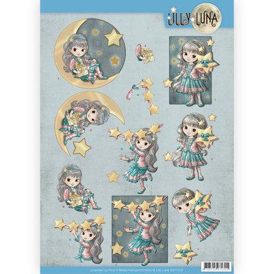 CD11430 3D Knipvel - Lilly Luna - Straal als een ster