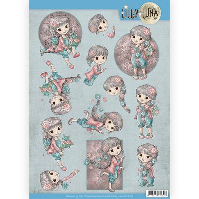 CD11429 3D Knipvel - Lilly Luna - Bloemen om lief te hebben