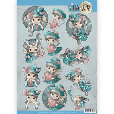 CD11427 3D Knipvel - Lilly Luna - Stijlvol en fantastisch