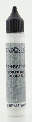Cadence Top Coat Glaze - voor Beton effect Wit 01 069 0024 0025  25 ml
