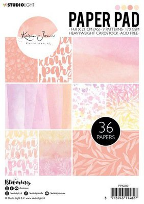 Studio Light Paper pad Karin Joan Blooming Collection nr.02 PPKJ02 A5 (01-20)