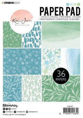 Studio Light Paper pad Karin Joan Blooming Collection nr.01 PPKJ01 A5 (01-20)