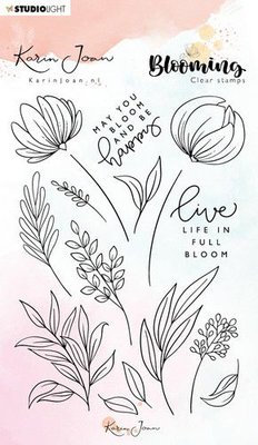 Studio Light Stamp A6 Karin Joan Blooming Collection nr.04 STAMPKJ04 (01-20)