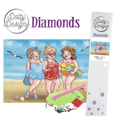 DDD10008 Dotty Designs Diamonds - Bubbly Girls - Beach