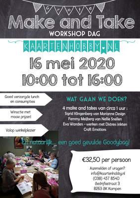 Make and Take Workshopdag 16 mei in Kampen
