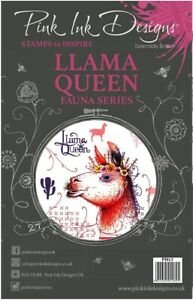 Pink Ink Designs A5 Clear Stamp Llama Queen PI013