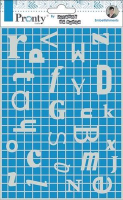 Pronty Chipboard Letters Frame A5 492.010.009 by Jolanda