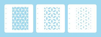 Nellie's Choice Layered combi stencil set (set of 3) Bloem LCSF001 A6