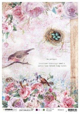 Studio Light Rice Paper A4 vel Jenine's Mindful Art nr.12 RICEJMA12