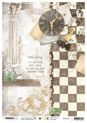 Studio Light Rice Paper A4 vel Jenine's Mindful Art nr.08 RICEJMA08