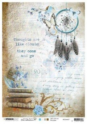 Studio Light Rice Paper A4 vel Jenine's Mindful Art nr.07 RICEJMA07
