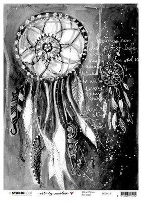 Studio Light Rice Paper A4 vel Art By Marlene 5.0 nr.12 RICEBM12