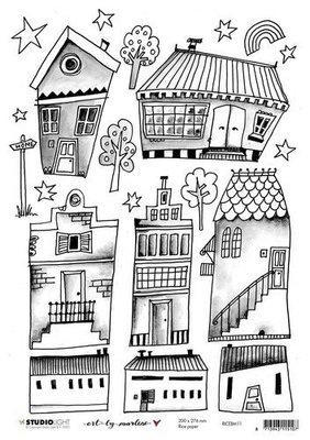 Studio Light Rice Paper A4 vel Art By Marlene 5.0 nr.11 RICEBM11