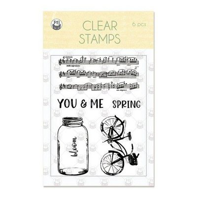Piatek13 - Clear stamp set The Four Seasons Spring P13-SPR-30 A7