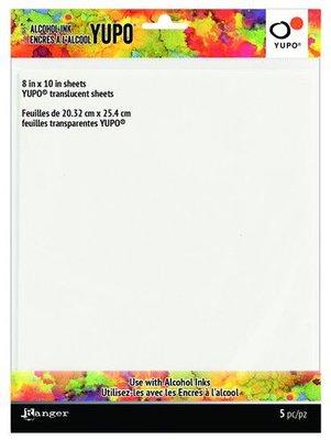 Ranger Alcohol Ink Ink Yupo Cardstock Translucent 20,3x25,4cm 5 vel TAC69751