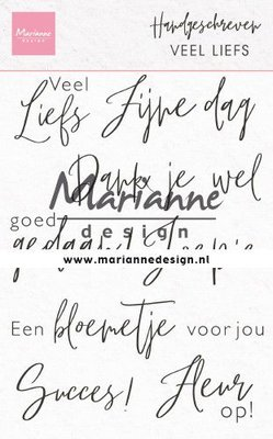 Marianne D Clear Stamps Handgeschreven - veel Liefs (NL) CS1050 110x150mm