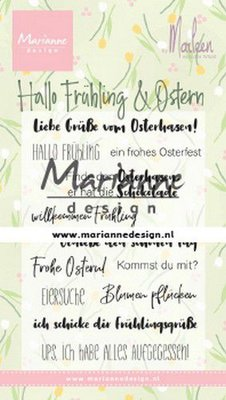 Marianne D Clear Stamps Marleen's Hallo Fruhling & Oster (DE) CS1045 85x120mm