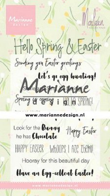 Marianne D Clear Stamps Marleen's Hello Spring & Easter (Eng) CS1044 185x120mm