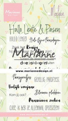 Marianne D Clear Stamps Marleen's Hallo Lente & Pasen (NL) CS1043 85x120mm