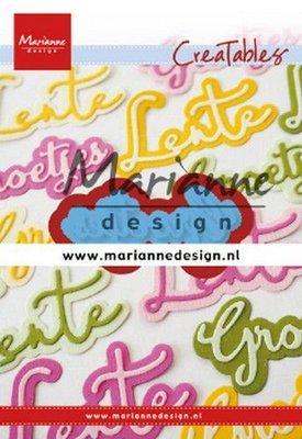 Marianne D Creatable groetjes (NL) LR0646 61x24,5mm, 66x29,5mm