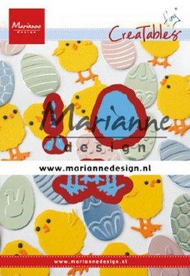Marianne D Creatable Tiny's paaskuiken LR0644 48x49mm