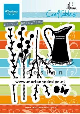 Marianne D Craftable kan met bloemen by Marleen CR1499 85x99mm