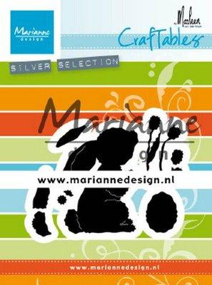 Marianne D Craftable konijn by Marleen CR1498 71x57mm
