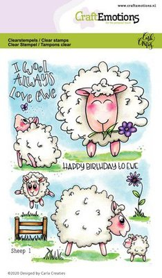 CraftEmotions clearstamps A6 - Sheep 1 Carla Creaties (01-20)