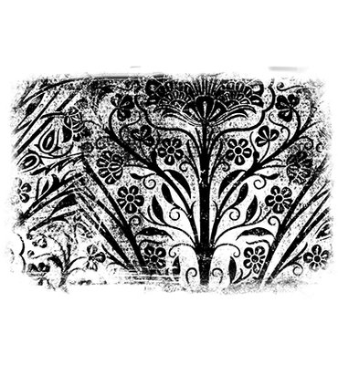 CEASRS020 - Creative Expressions Pre Cut Rubber Stamp Botanic Grunge