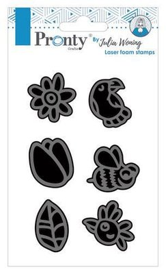 Pronty Foam stamp set spring 494.904.021 Julia Woning (02-20)