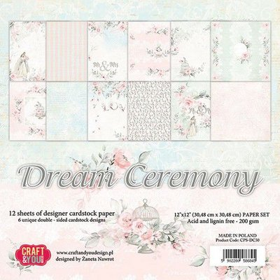 Craft&You Dream Ceremony BIG Paper Set 12x12 12 vel CPS-DC30 (02-20)