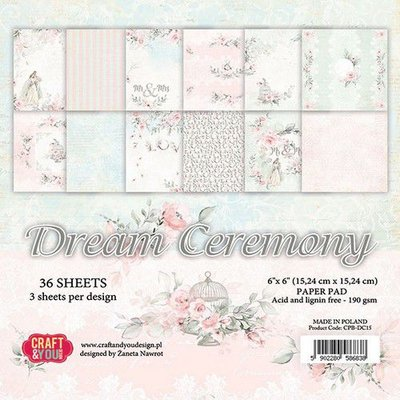 Craft&You Dream Ceremony Small Paper Pad 6x6 36 vel CPB-DC15 (02-20)