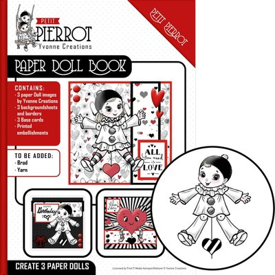 YCPD001 Paper Doll Book - Yvonne Creations - Petit Pierrot