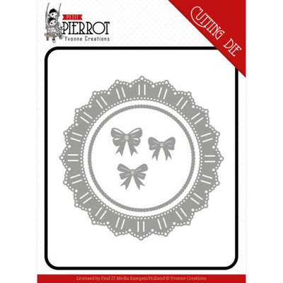 YCD10198 Dies - Yvonne Creations - Petit Pierrot - Lace circle and bows