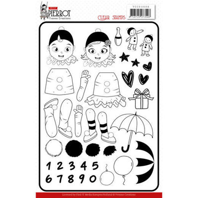 YCCS10056 Clear Stamps - Yvonne Creations - Petit Pierrot