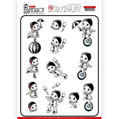 SB10433 3D Pushout - Yvonne Creations - Petit Pierrot - At the Circus