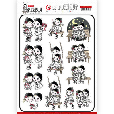 SB10430 3D Pushout - Yvonne Creations - Petit Pierrot - Happy Together