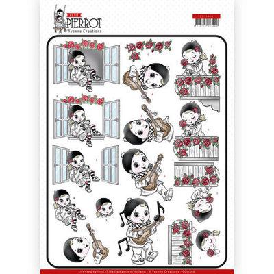 CD11466 3D cutting sheet - Yvonne Creations - Petit Pierrot - Serenade