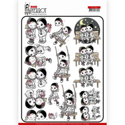 CD11465 3D cutting sheet - Yvonne Creations - Petit Pierrot - Happy Together