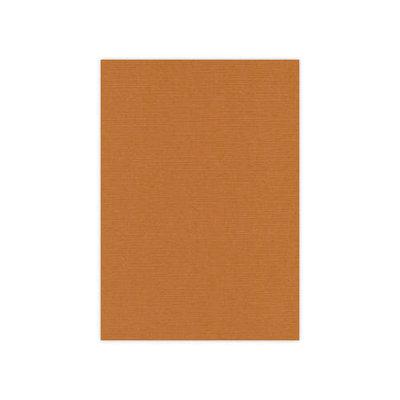 BULK 12 Linnenkarton 13,5x27cm Card Deco Koffiebruin per 125 vellen