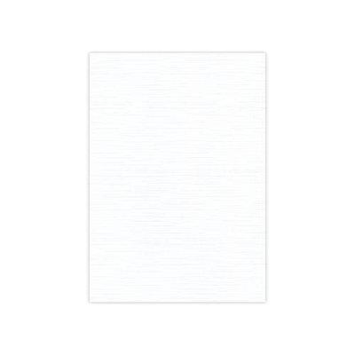 BULK 01 Linnenkarton 13,5x27cm Card Deco Wit per 125 vellen
