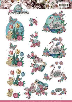 CD11437 3D cutting sheet - Yvonne Creations - Kitschy Lala - Kitschy Birds
